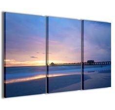 ec13589418 Stampe su tela 3pz.120x90cm Paesaggio 050 Quadri Moderni Tramonto Quadro  Moderno