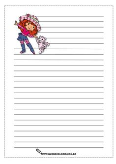 Printable Lined Paper, Free Printable Stationery, Printable Recipe Cards, Kids Scrapbook, Disney Scrapbook, Scrapbooking, Disney Writing, Christmas Letterhead, Geometric Coloring Pages