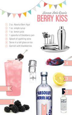 Jenna Sais Quois: Cocktail Hour: Berry Kiss