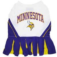 Do you have a #4-legged Cheerleader ? We have the dress for her. Officially licensed MFL - sport team doggie dresses  http://www.4-legged.com/nfl-cheerleader-dog-dress/