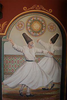 Islamic mysticism. Whirling dervishes. Islamic Paintings, Indian Art Paintings, Whirling Dervish, Giraffe Art, Metal Art Sculpture, Miniature Portraits, Turkish Art, Arabian Nights, Egyptian Art