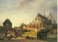 Deventer naar schilderij van Kasper Karsen 1870.