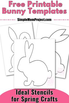 Farm Animal Crafts, Animal Crafts For Kids, Spring Crafts For Kids, Crafts For Kids To Make, Bunny Coloring Pages, Toddler Coloring Book, Coloring Pages For Kids, Coloring Sheets, Rabbit Crafts