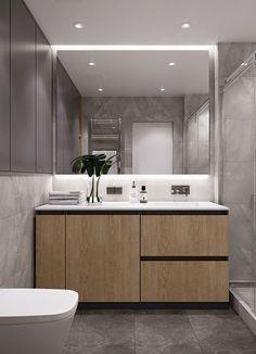 Bathroom Design Small, Simple Bathroom, Bathroom Interior Design, Modern Bathroom, Interior Decorating, Scandinavian Interior Design, Modern Interior, Wardrobe Design Bedroom, Toilet Design