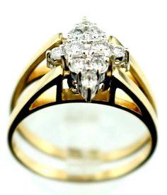 Cardow 14K Yellow Gold 0.50ct TDW Diamond Anniversary Ring 7.5 B41 #Cardow