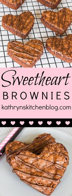 Sweetheart Brownies// Kathryn's Kitchen Blog