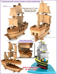 Scroll Saw Magic Pirate Ship Madagascar Wood Toy Plan Set