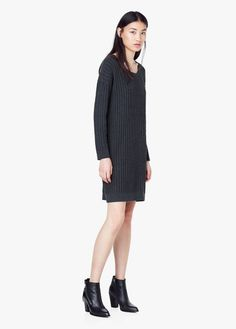 Knit cotton-blend dress   MANGO