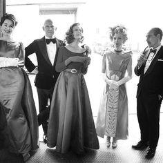 Jessica Lange, Ryan Murphy, Susan Sarandon, Judy Davis and Stanley Tucci photographed by Tony Duran for Emmy Magazine.