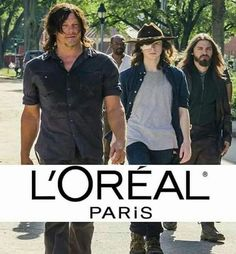 The men of The Walking Dead who have the longest hair...perfect people to advertise for the haircare product.