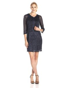Jessica Howard Women's Glitter Scallop Jacket Dress >>> You can get additional details at the image link. (This is an affiliate link and I receive a commission for the sales)