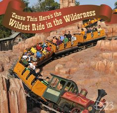 """Cause This Here's the Wildest Ride in the Wilderness"" #BigThunderMountainRailroad #DisneyWorld"
