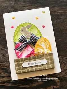 Stampin Up Easter Card crinkle paper technique for Totally Techniques blog hop with Stampin' Up UK demo Zoe Tant Hello Easter #eastercards #kidscraft #rubberstamping