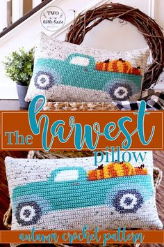 Crochet pattern for pillows - update your home - a smarter life # crochet .Crochet pattern for pillows - Bring your home up to date - A smarter lifeDon't you just love the iconic Crochet Home Decor, Diy Crochet, Crochet Ideas, Crochet Projects, Halloween Crochet Patterns, Crochet Decoration, Pumpkin Pillows, Diy Pillows, Toss Pillows