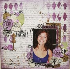 nancy used Harlequin to create this layout. Page Layout, Scrapbook Layouts, Scrapbooking, Paper Crafts, Memories, Frame, Decor, Memoirs, Picture Frame