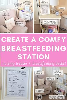 Creating a comfortable breastfeeding station and breastfeeding basket can bring such success to first time moms. In my opinion it's a must for any nursing mom - full of nursing essentials to make breastfeeding easier at an arm's reach and portable! Breastfeeding Pillow, Breastfeeding Support, Baby Boys, Nursing Pillow, After Baby, Baby Arrival, Pregnant Mom, First Time Moms, Baby Hacks