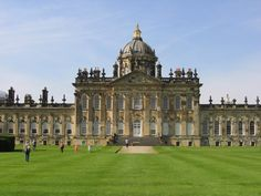 Castle Howard -- in Yorkshire, built by Sir John Vanbrugh. It was the location of 'Brideshead Revisited' and boasts an impressive Great Hall and a fabulous collection of art.