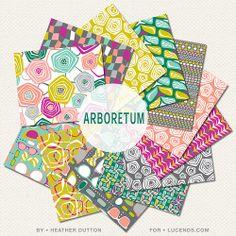 Arboretum Fabric Collection For @lucinda snyder    Heather Dutton