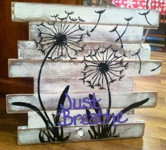 Reclaimed Barnwood Dandelion art by TheCreativeNests on Etsy, $58.00
