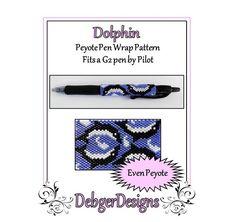 Bead Pattern Peyote(Pen Wrap/Cover)-Dolphin
