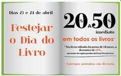 Promoções Dia Mundial do Livro - http://parapoupar.com/promocoes-dia-mundial-do-livro/