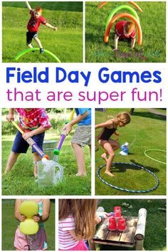 Field day games and activities for kids. Outdoor party games and summer fun! #fieldday #summer #summergames #summeractivities #summerfun #preschool #kidsactivities #activitiesforkids