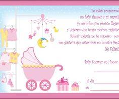 Bella y delicada tarjeta de baby shower