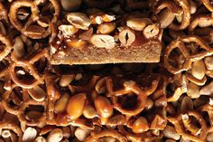 Find the recipe for Butterscotch Blondie Bars with Peanut-Pretzel Caramel and other peanut recipes at Epicurious.com