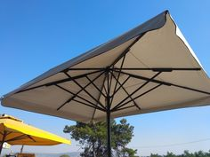 The parasols consist of acrylic fabric imported by the Austrian firm Sattler,in the colour of your choice by offering the ability of print. All the metal parts are electrostatic dyed in the colour type RAL of your choice,which ensures the prevention against oxidation and deterioration. Patio, Colour, Type, Metal, Outdoor Decor, Fabric, Home Decor, Color, Tejido