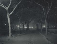 "Alfred Stieglitz. Icy Night, New York. 1898. Photogravure. 5 x 6 3/8"" (12.7 x…"