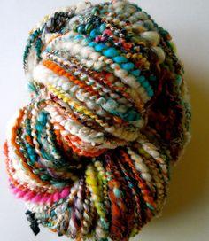 Your place to buy and sell all things handmade Fishbowl Handspun Yarn. Yarn Thread, Yarn Stash, Cotton Thread, Spinning Yarn, Hand Spinning, Textiles, Yarn Inspiration, Art Textile, Yarn Bombing