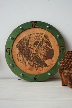 Labrador Retriever dog wooden Wall Clock by wandrstore on Etsy