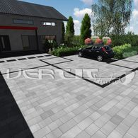 Projekt nawierzchni Dom, Garden Landscaping, Patio, Landscape, Outdoor Decor, Home Decor, Projects, Front Yard Landscaping, Scenery