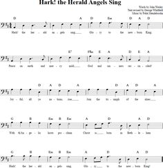 the Herald Angels Sing Cello Sheet Music Easy Piano Sheet Music, Violin Sheet Music, Music Sheets, Free Sheet Music, Cello Lessons, Music Theory Lessons, Music Education, Music Notes, Wonderful Time