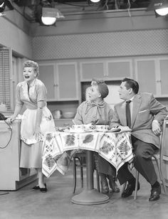 Lucille Ball, Vivian Vance & Desi Arnaz I Love Lucy production still