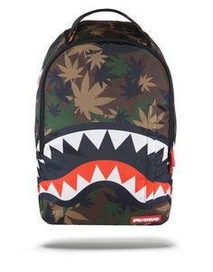Sprayground Weed Shark Backpack >>> Additional details at the pin image, click it : Hiking backpack Back To School Backpacks, Day Backpacks, Bape, Cool School Bags, Best Hiking Backpacks, Cute Luggage, Swag Outfits, Backpack Purse, Spray Ground