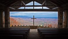 "The Fred W. Symmes Chapel (also known as ""Pretty Place"") is located at the YMCA's Camp Greenville in Cleveland, SC. It's perched on the edge of a mountain nearly 3000 feet above sea level with heavenly views for miles."