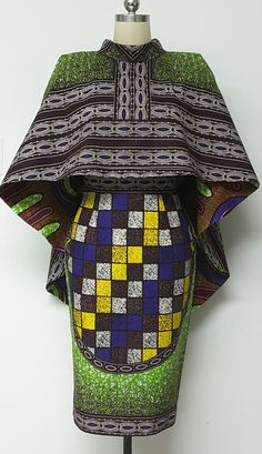 African print dresses can be styled in a plethora of ways. Ankara, Kente, & Dashiki are well known prints. See over 50 of the best African print dresses. African Dresses For Women, African Print Dresses, African Attire, African Fashion Dresses, African Wear, African Women, African Prints, African Style, Ankara Fashion