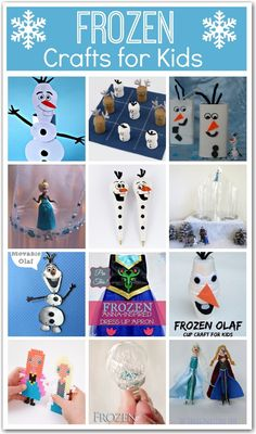 Frozen crafts for kids - fun crafts based on the Disney Movie Frozen