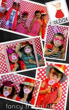 Pig noses photo booth