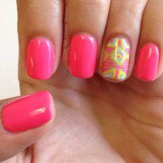 Pastel tribal nail art design
