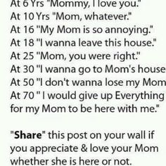 I love my mom<3 EVERY TIME I SEE THIS I CRY!