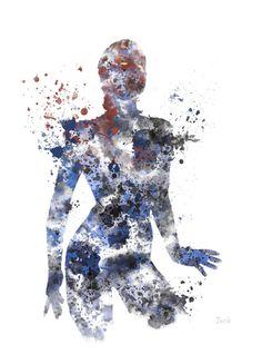 Ilustración de PRINT arte mística, X-Men, Marvel, supervillano, decoración casera, arte de la pared