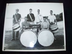 Vintage 1950s Original Photo of BOYS AT BAND CAMP INTERLOCHEN MICHIGAN 8x10