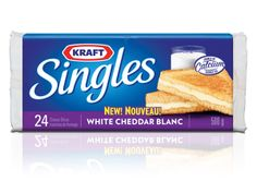 Products - Cheese & Dairy - Kraft Singles White Cheddar - Kraft First Taste Canada Kraft Recipes, New Recipes, Cooking Recipes, Favorite Recipes, Kraft Foods, Making Grilled Cheese, White Cheddar, Online Coupons, Summer Treats
