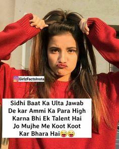 Funny Attitude Quotes, True Feelings Quotes, Attitude Shayari, Attitude Quotes For Girls, Crazy Girl Quotes, Girl Attitude, Reality Quotes, Girly Quotes, Crazy Girls