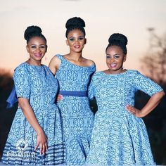 African Fashion Skirts, South African Fashion, African Fashion Designers, African Print Fashion, Shweshwe Dresses, Ankara Skirt And Blouse, Conservative Fashion, Vogue Wedding, Old Dresses