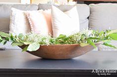 A Brick Home: rustic spring decor, spring home tour, blush spring decor, spring decorating ideas