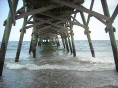 """pier at Garden City  , SC     """" under the boardwalk """""""
