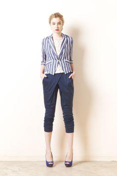 stripe jacket jersey pants